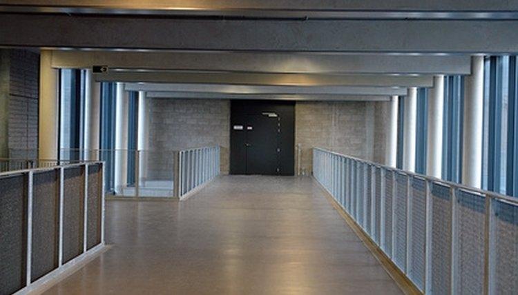 School hallways must adhere to OSHA safety standards.