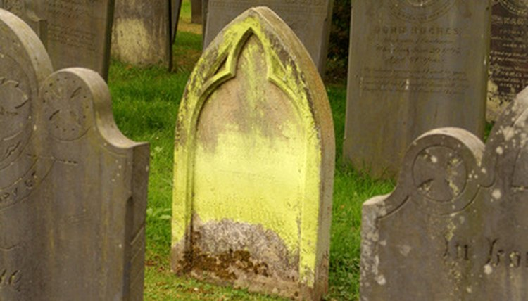 Headstones can be restored.