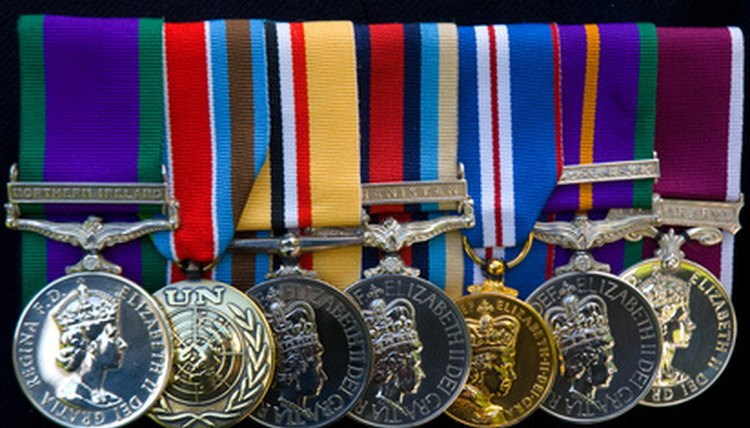 Medals are a sign of honor and accomplishment in the military.