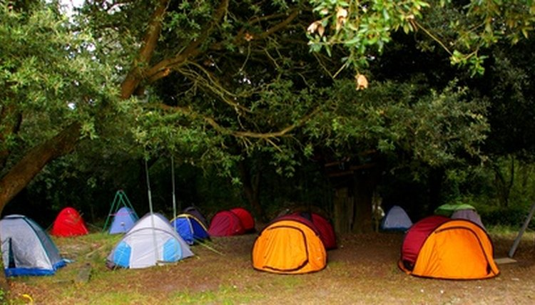 Camping can lower the cost of family church retreats.