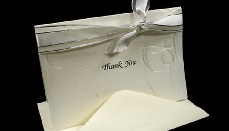 There is etiquette to follow for thank-you notes.