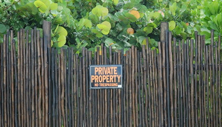 Fences help define property lines.