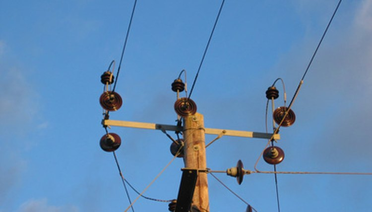 Electrical workers install and maintain power lines.