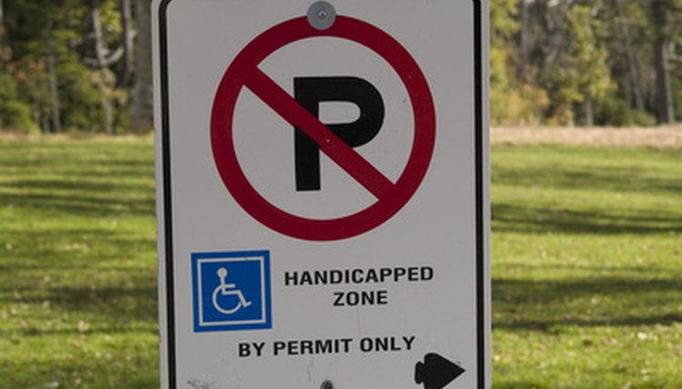Only those with a permit may park in a designated handicapped spot.