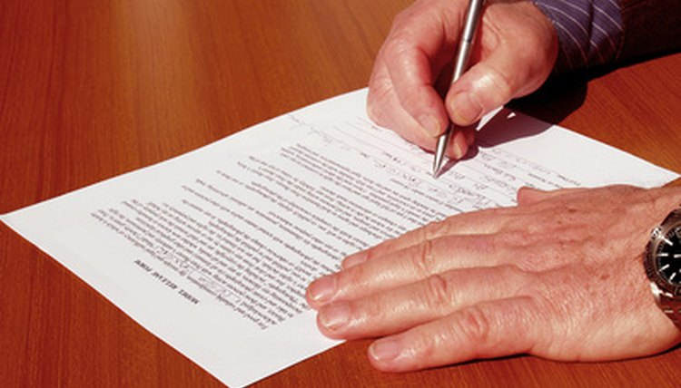 legal document being signed