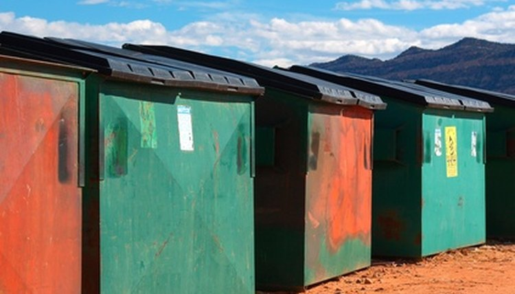 Row of dumpsters