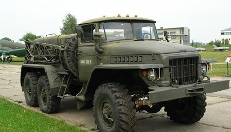 An Army vehicle