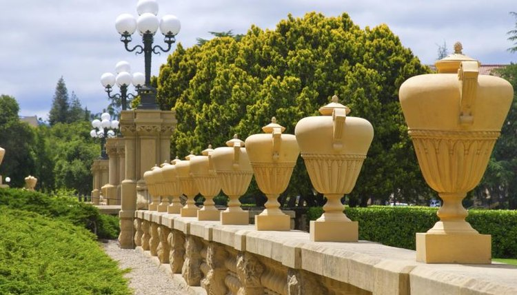 A pathway on the Stanford University campus