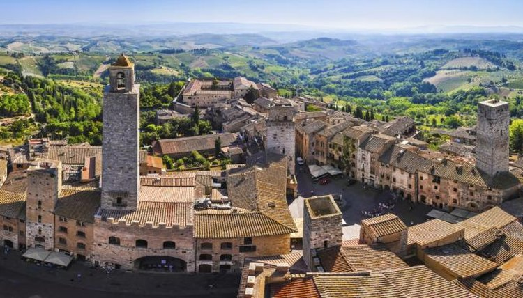 Panoramic view of the city San Gimignano in Tuscany