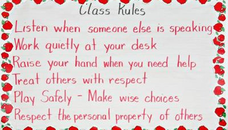 Set rules for the children.