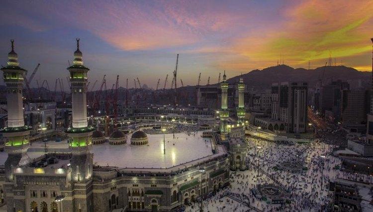 Sunrise in Mecca, Saudi Arabia