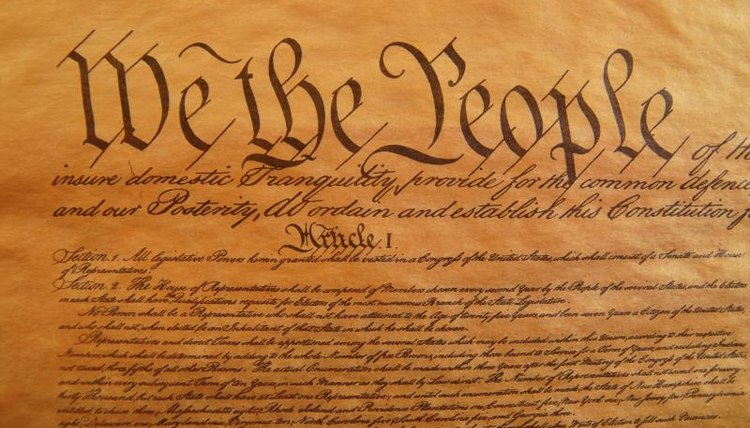 The Preamble to the Constitution.