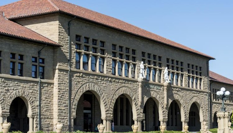 The main quadrangle on Stanford University's campus.