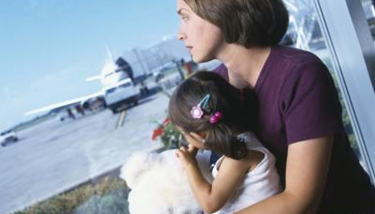 mother and child at airport