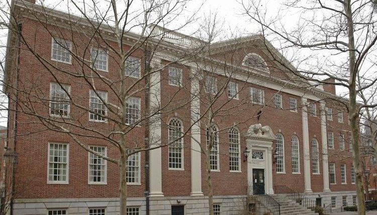 Large campus building in Harvard Yard.