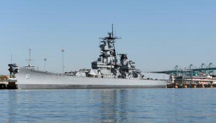 Battleship USS Iowa at berth in San Pedro, CA.