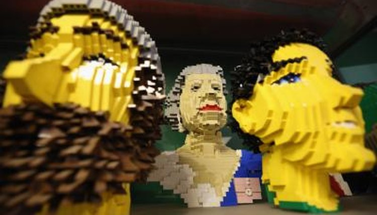 Characters created out of Lego blocks