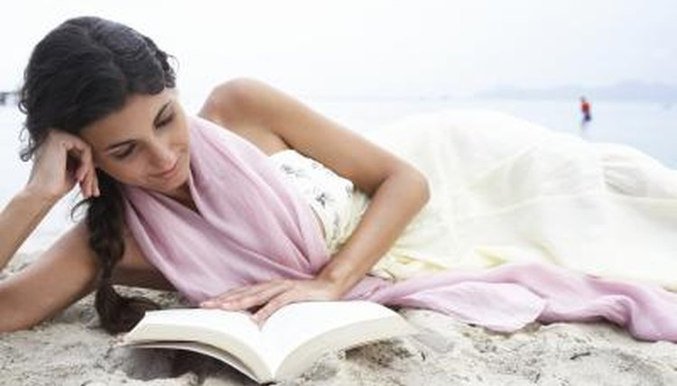 Young woman reading.