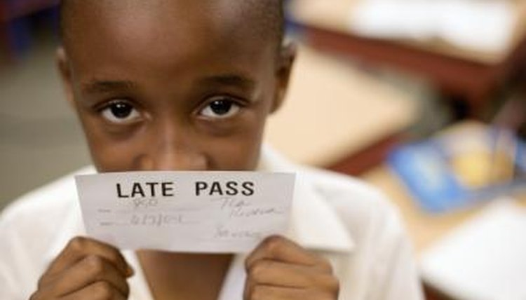 A student puts himself and others at a disadvantage when tardy.