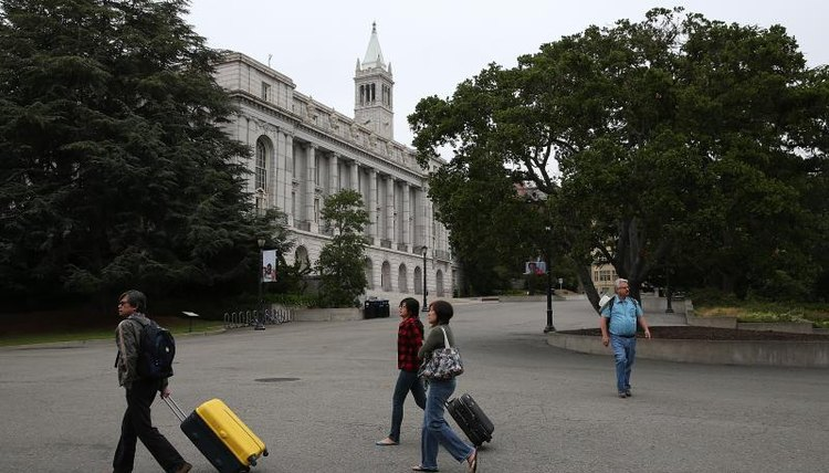 Students walking through the UC Berkeley campus