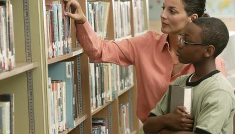 Selecting a book from the shelf