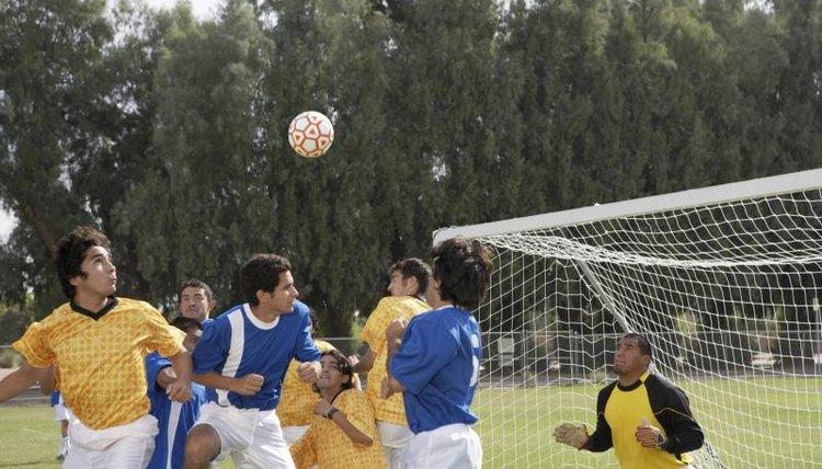 A college soccer scrimmage.