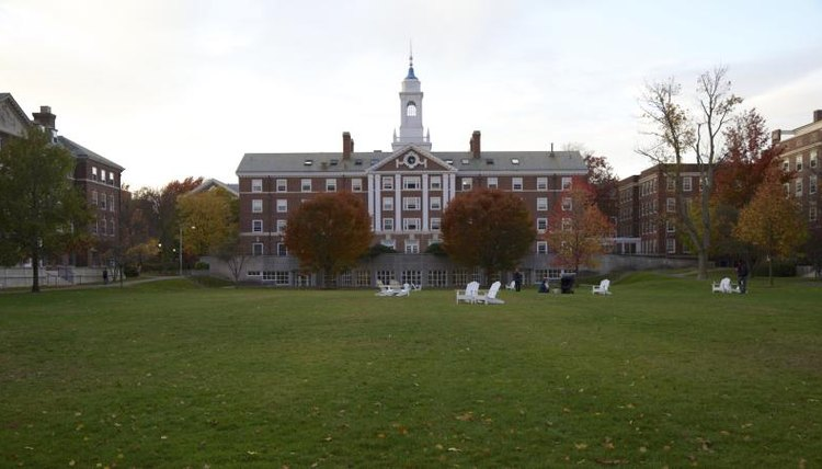 Quad on Harvard University in Massachusetts.