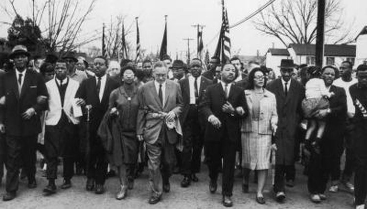 Martin Luther King, Jr. leading March
