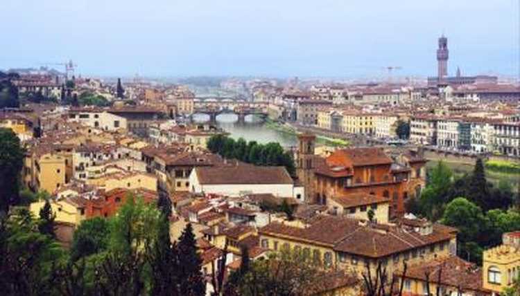 Wide shot of Florence, Italy.