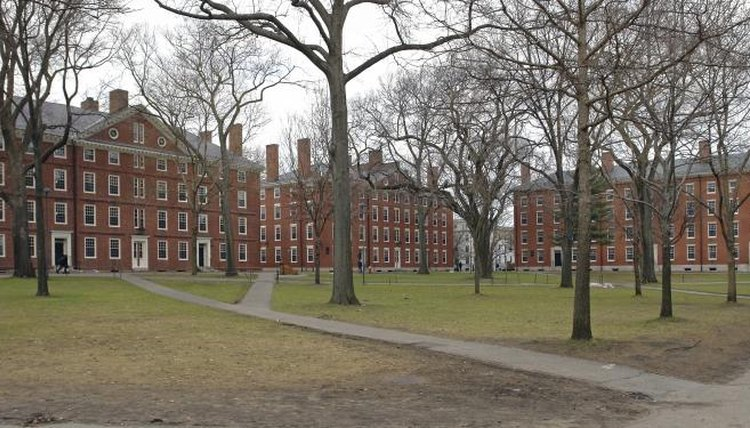 The Harvard Yard in Massachusetts