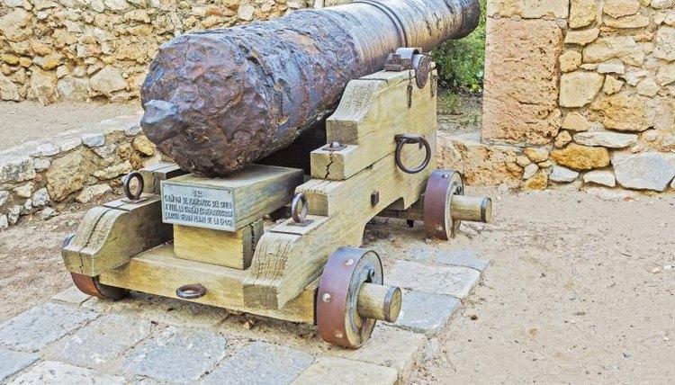 Cannon on a ancient in Tarragona, Catalonia, Spain