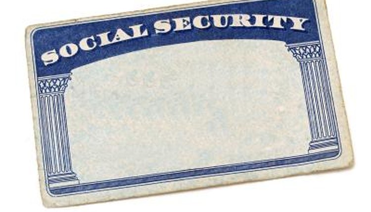 Blank Social Security card.