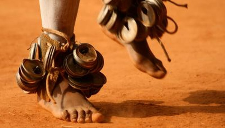The dancing feet of a Zulu tribesman