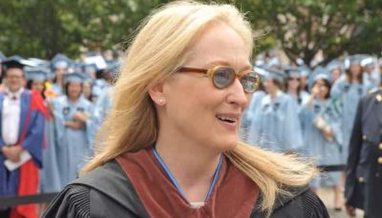 Meryl Streep receiving honorary degree