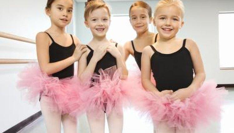 Children smiling in dance class