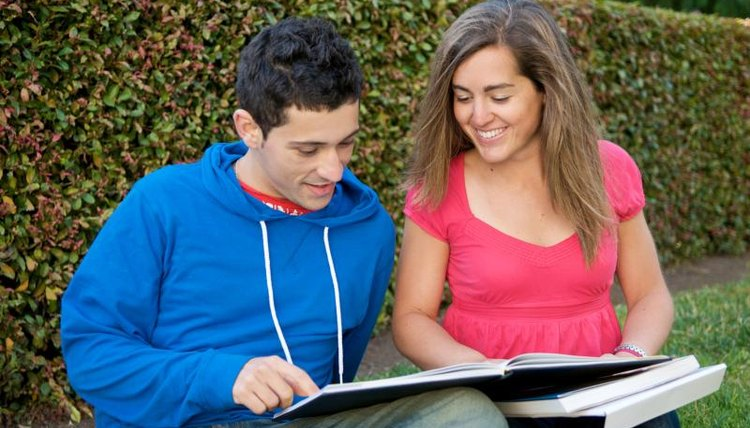 Students studying together at UC Berkeley