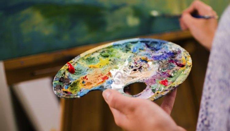 Artist holding palette