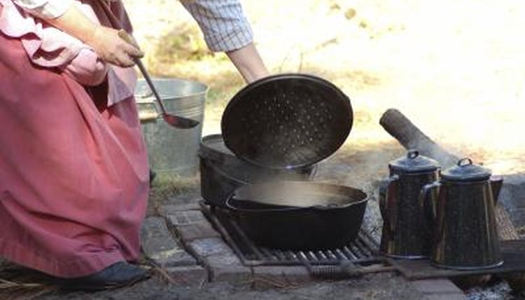 Pioneers cooked in simple cast-iron skillets.