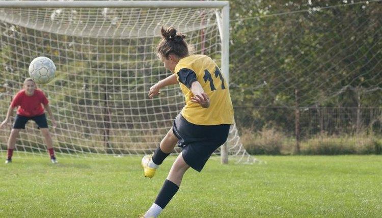 Women's soccer practice.