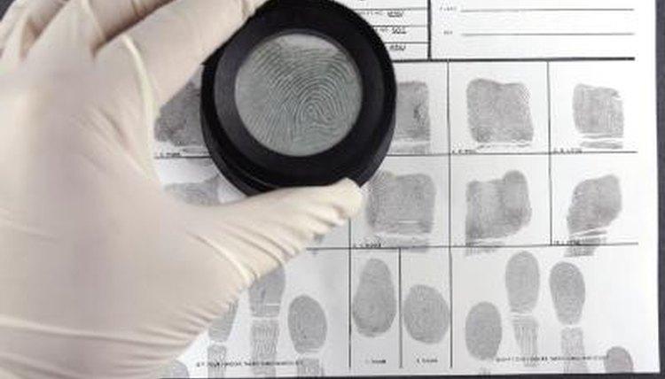 Police finger print investigation