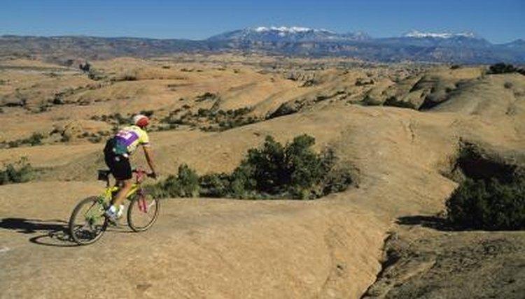 Mountain biker in Moab, UT