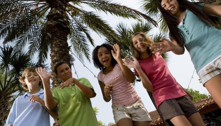 Teenagers dancing.