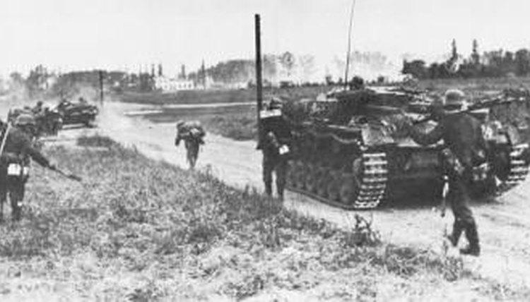 The German invasion of Poland started World War II.