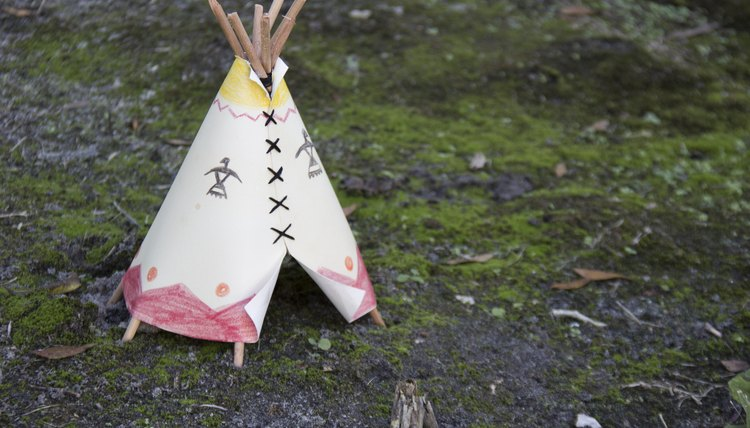 A miniature teepee helps kids explore the lifestyle and culture of Native Americans from 1840- & How to Build a Teepee for a School Project | Synonym