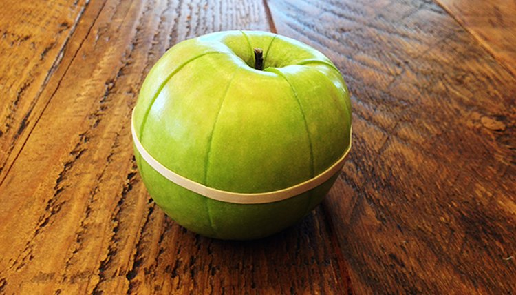 Hold your apple together with a rubber band.