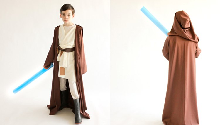 Star Wars Obi-wan costume with brown robe.