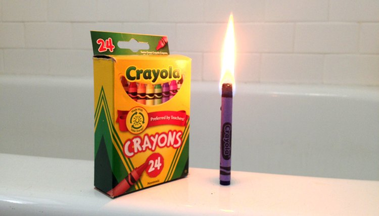 Burn the crayon paper when you need a light.