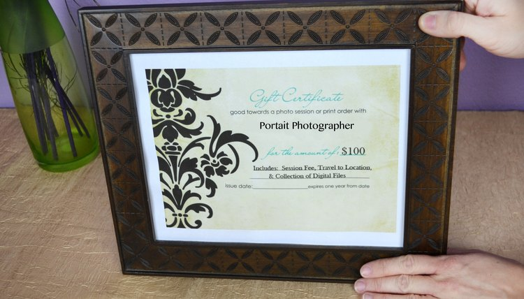 silent auction gift certificate template