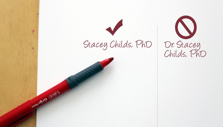 How to write name with phd