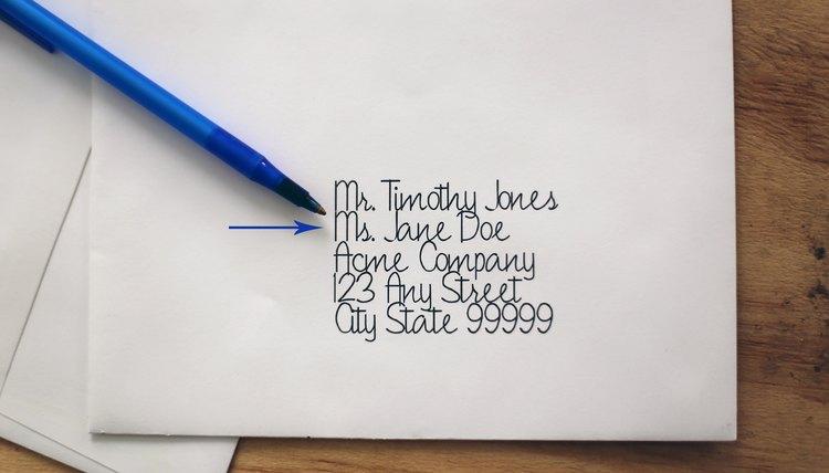 Proper Mailing Address Etiquette Synonym
